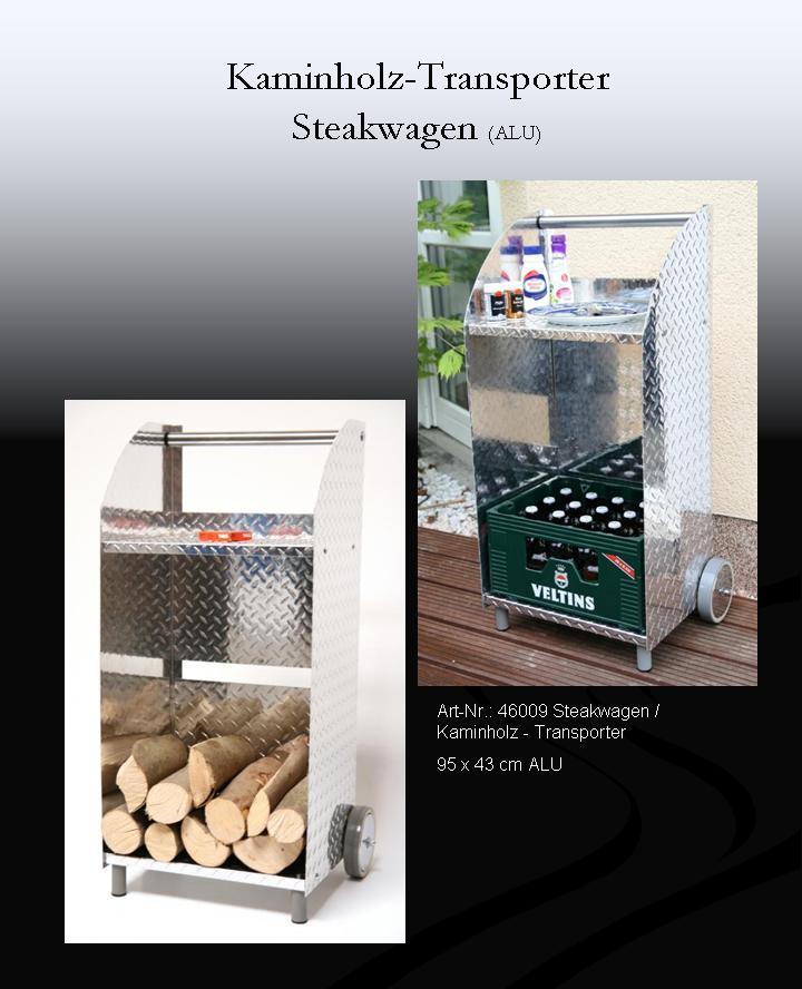 kaminholzwagen steakwagen grillwagen 95x43cm aus aluminium wetterfest ebay. Black Bedroom Furniture Sets. Home Design Ideas